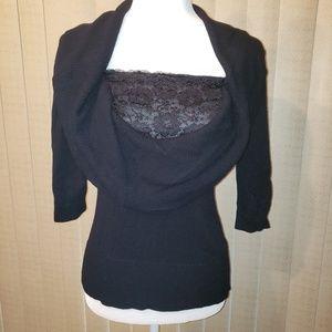 Alfani black sweater blouse